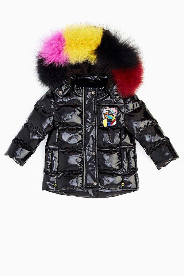 Resim Kız Bebek Siyah Mont