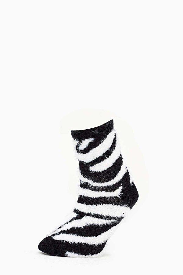 Resim Kız Çocuk Zebra-Siyah Çorap