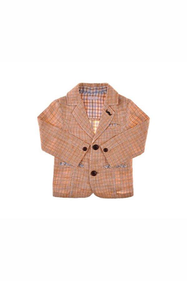 Resim Erkek Bebek Ekose Ceket