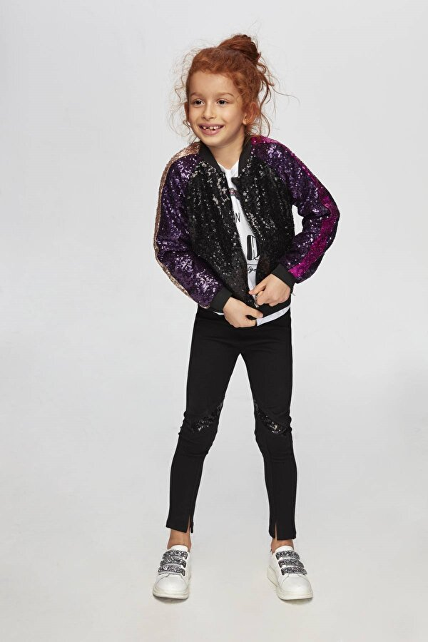 Resim Kız Çocuk Siyah Ceket