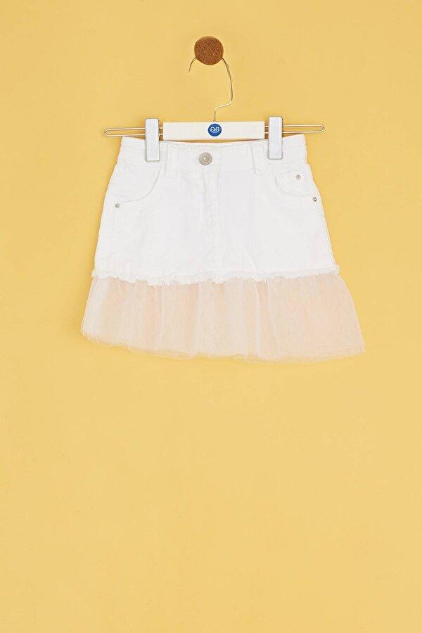 Resim Kız Bebek Beyaz Etek