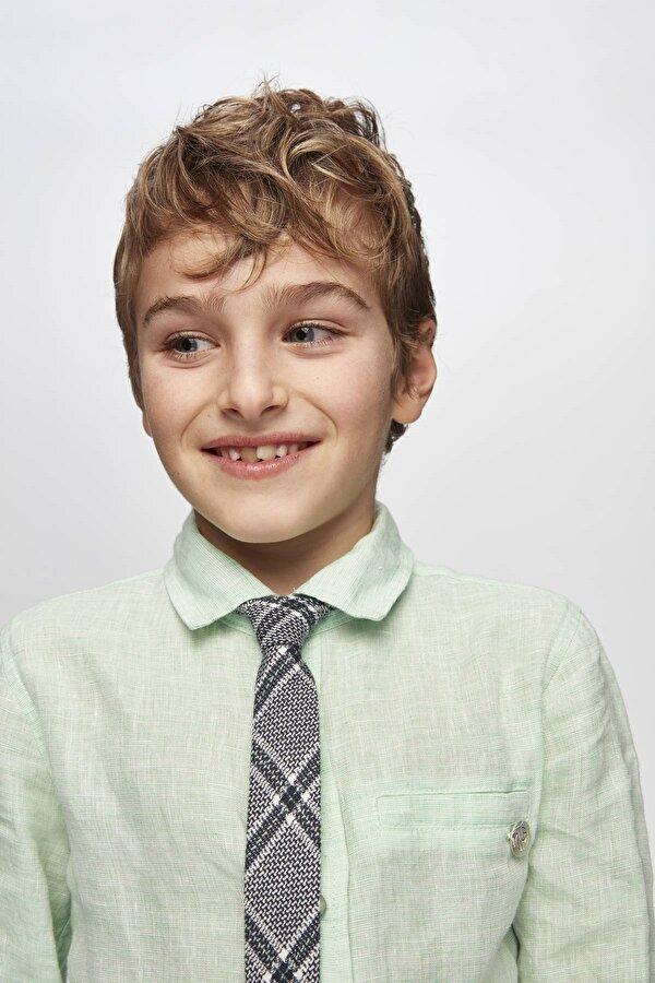 Resim Erkek Çocuk Ekose Kravat