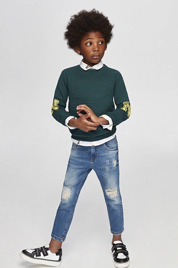 Resim Erkek Çocuk Yeşil S-Shirt