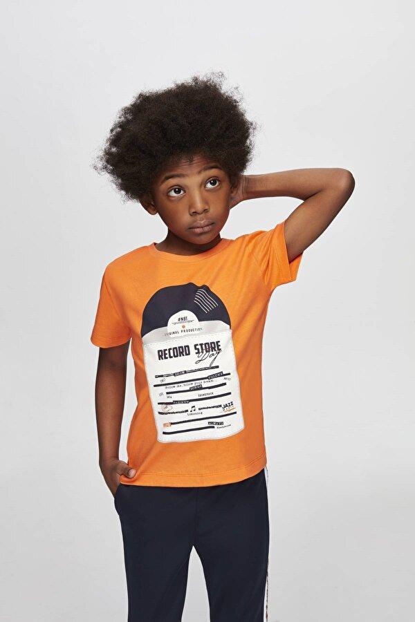 Resim Erkek Çocuk Oranj T-Shirt