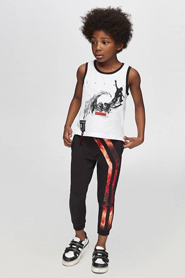 Resim Erkek Çocuk Siyah Eşofman Altı