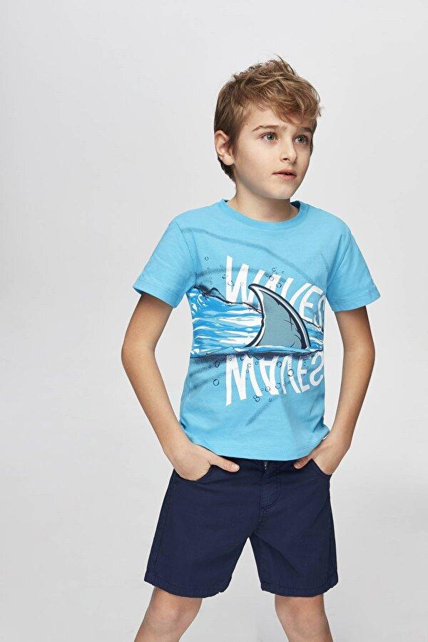 Resim Erkek Çocuk Mavi T-Shirt