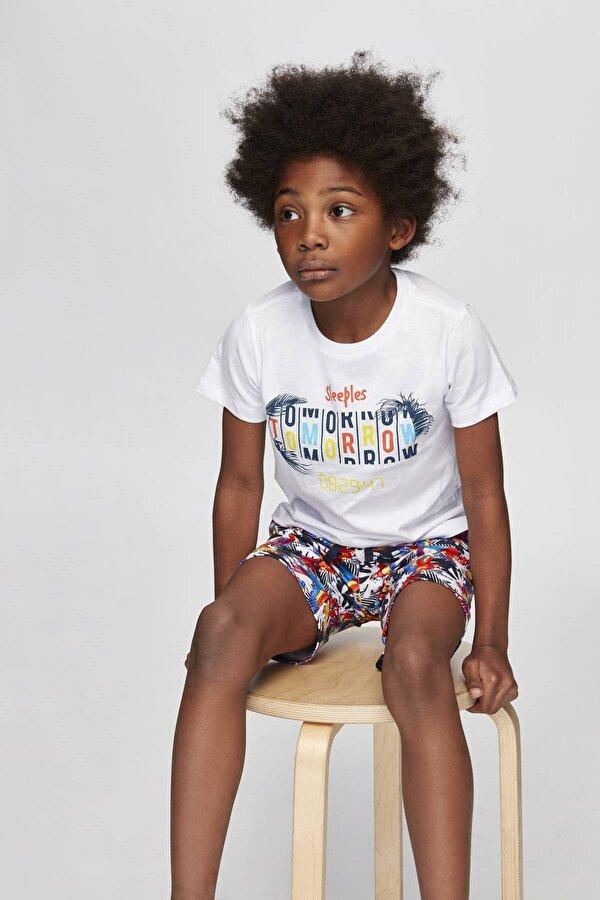Resim Erkek Çocuk Desenli Pijama Takımı
