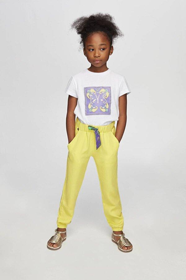 Resim Kız Çocuk Sarı Eşofman Altı