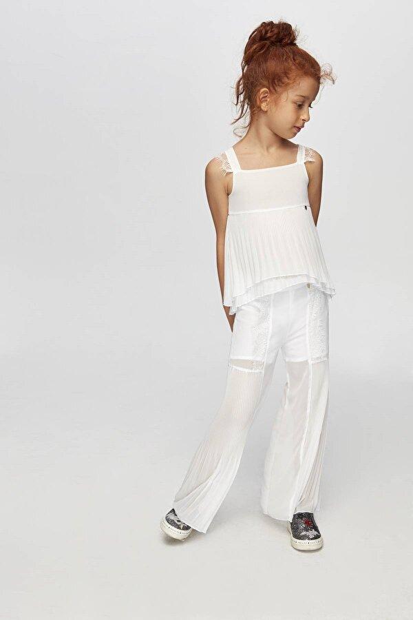 Resim Kız Çocuk Beyaz Pantolon