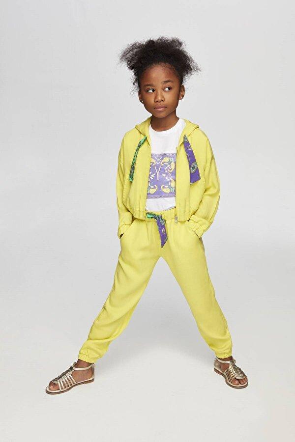 Resim Kız Çocuk Sarı Eşofman Üstü