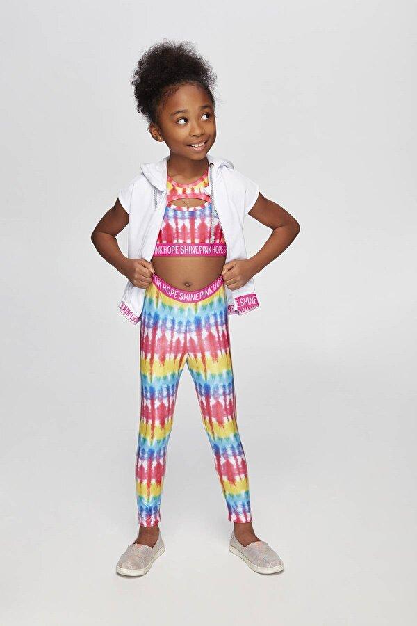 Resim Kız Çocuk Beyaz Eşofman Üstü