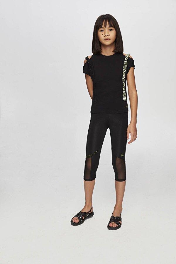 Resim Kız Çocuk Siyah T-Shirt