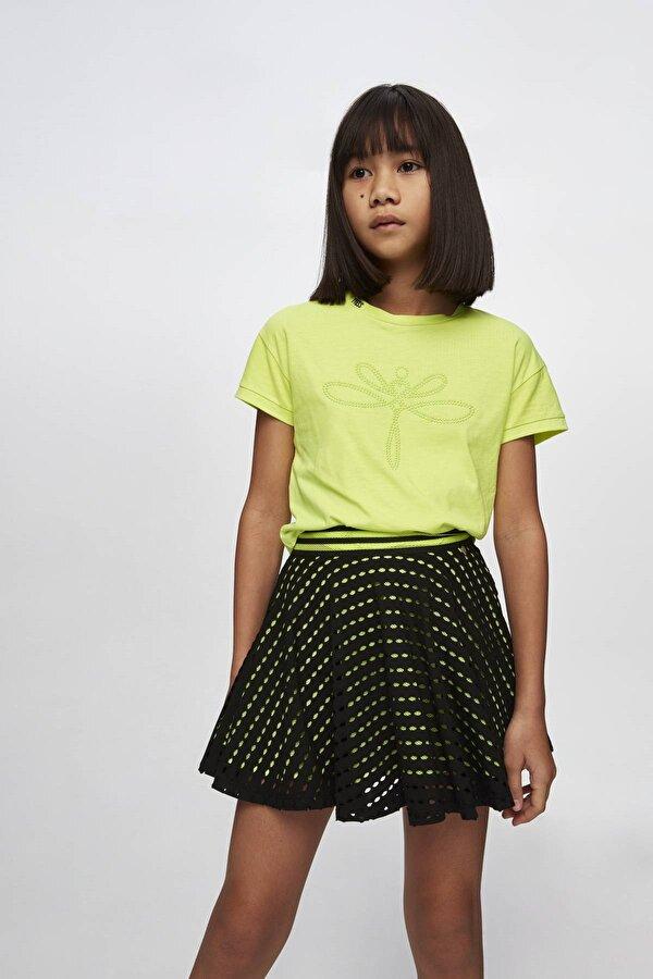 Resim Kız Çocuk Neon Yeşil T-Shirt