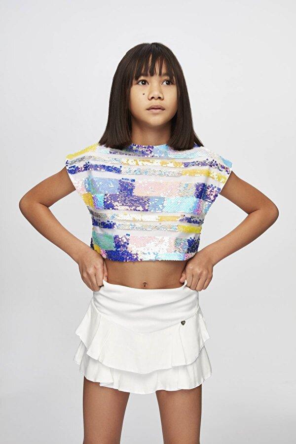 Resim Kız Çocuk Çizgili Crop Top