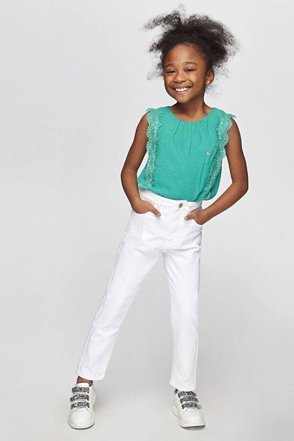 Resim Kız Çocuk Yeşil Bluz