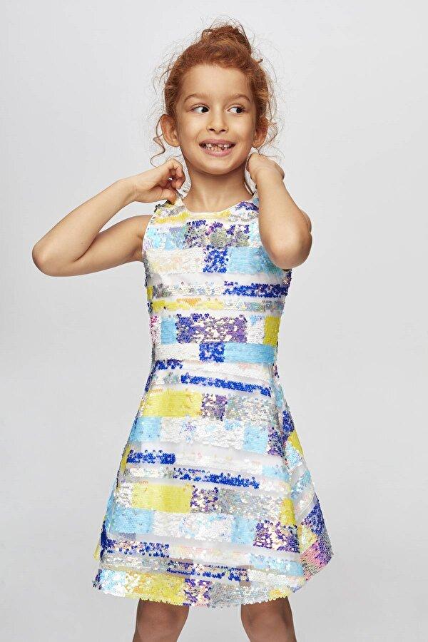 Resim Kız Çocuk Çizgili Elbise