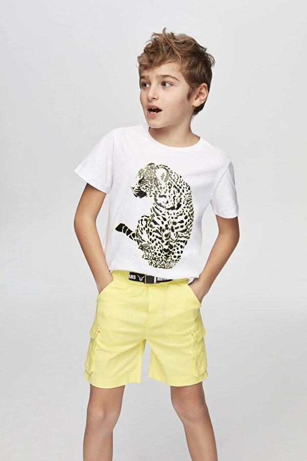 Resim Erkek Çocuk Sarı Şort