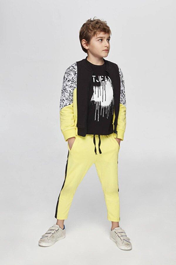 Resim Erkek Çocuk Sarı Eşofman Altı