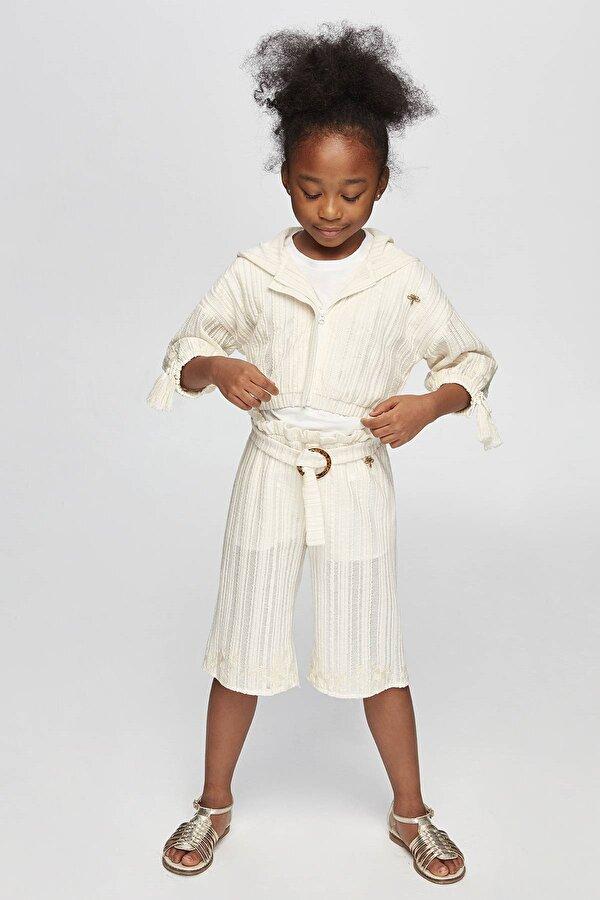 Resim Kız Çocuk Ekru Pantolon