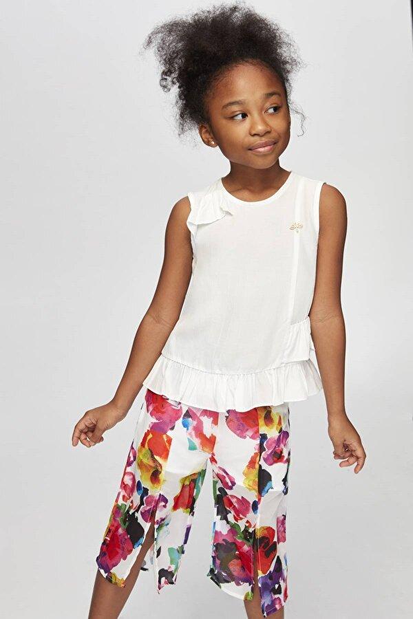 Resim Kız Çocuk Desenli Pantolon