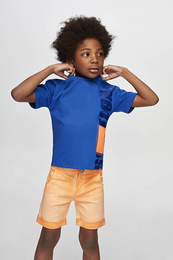 Resim Erkek Çocuk Neon Oranj Şort