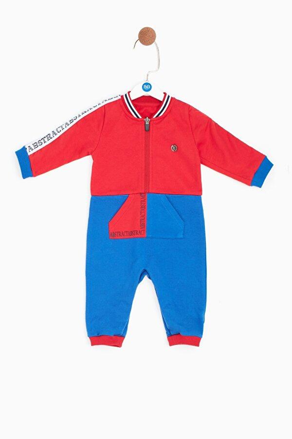 Resim Erkek Bebek Kırmızı Tulum