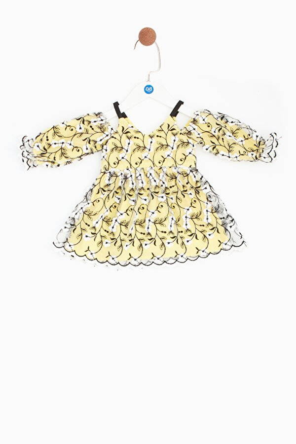 Resim Kız Bebek Sarı Elbise