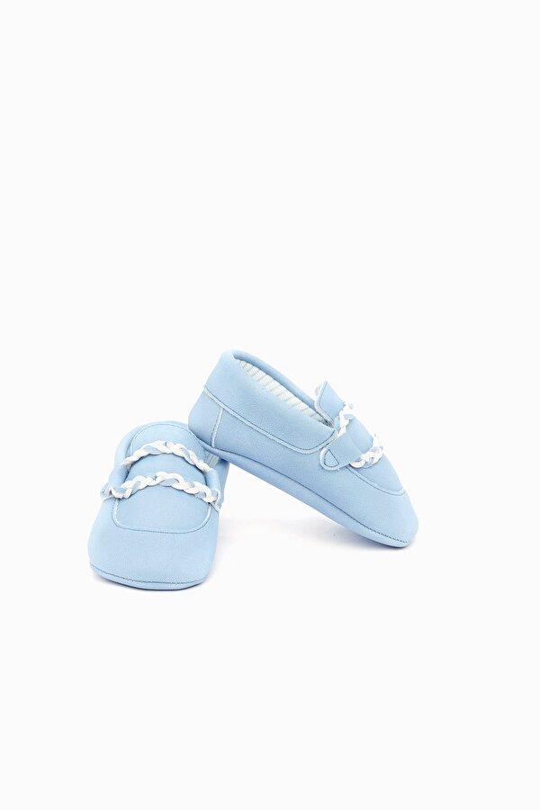 Resim Erkek Bebek Mavi Patik
