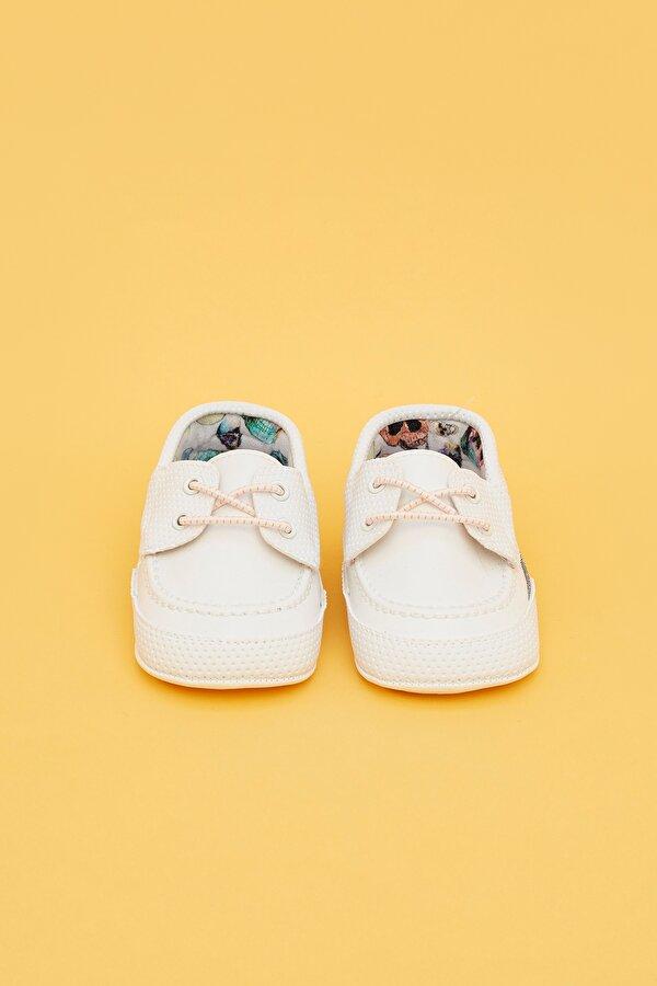 Resim Erkek Bebek Beyaz Patik