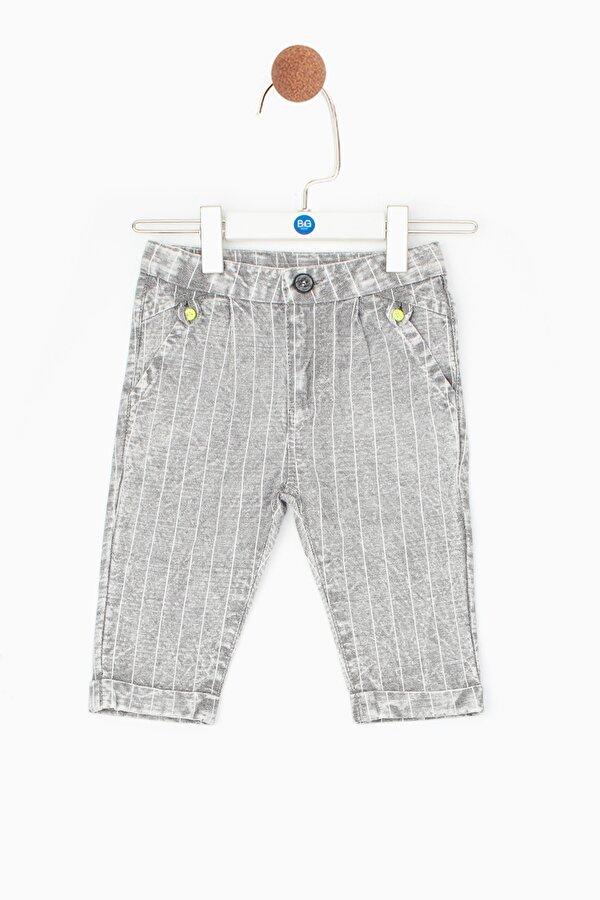 Resim Erkek Bebek Gri Melanj Pantolon