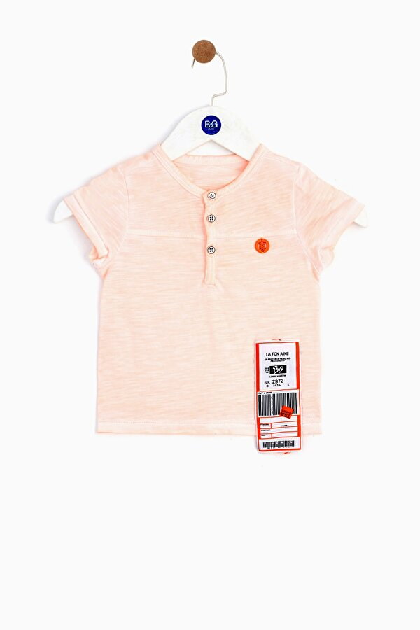 Resim Erkek Bebek Neon Oranj T-Shirt