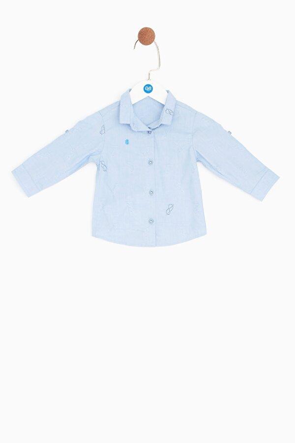 Resim Erkek Bebek Mavi Gömlek