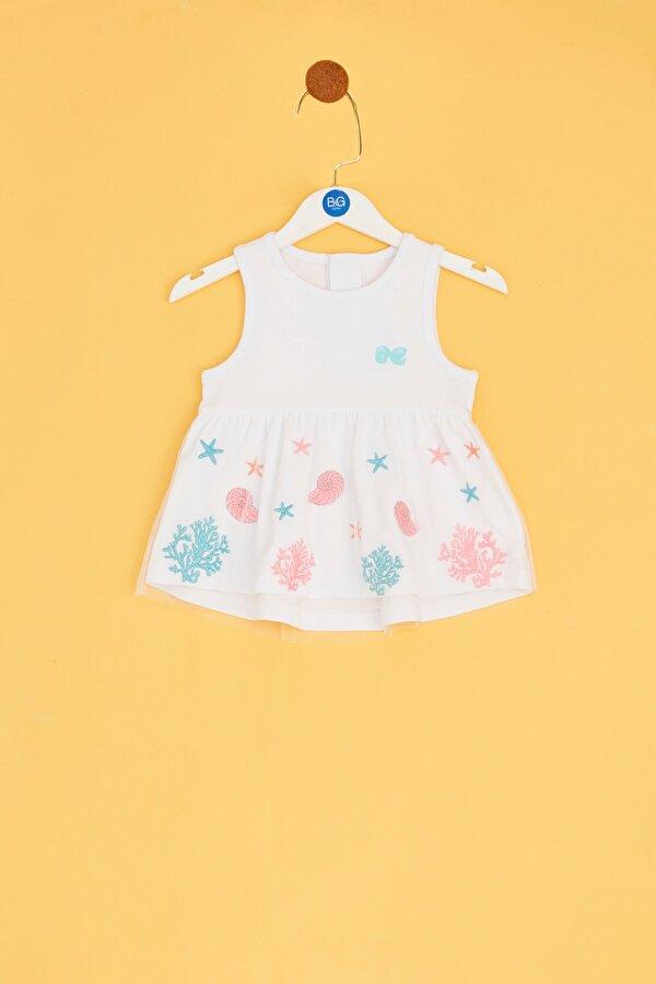 Resim Kız Bebek Beyaz Tunik