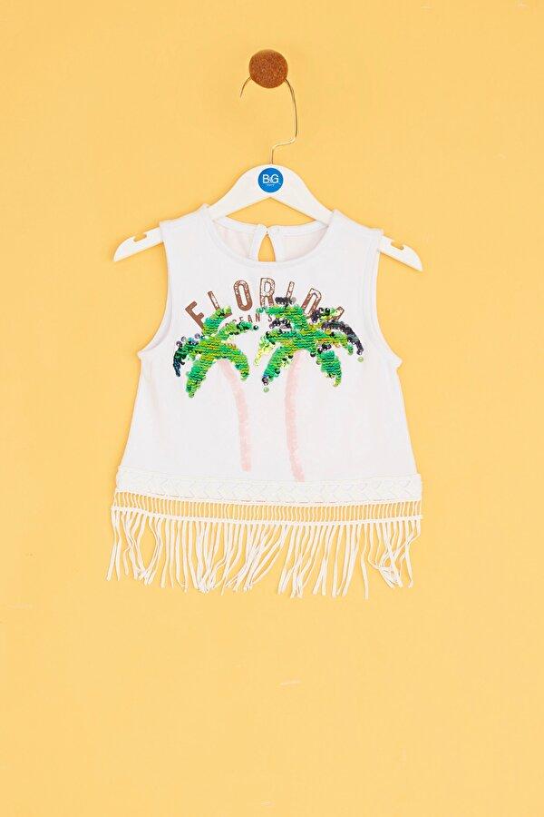 Resim Kız Bebek Beyaz Atlet