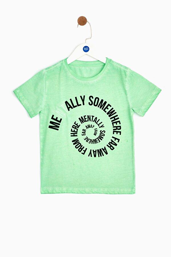 Resim Erkek Çocuk Yeşil T-Shirt
