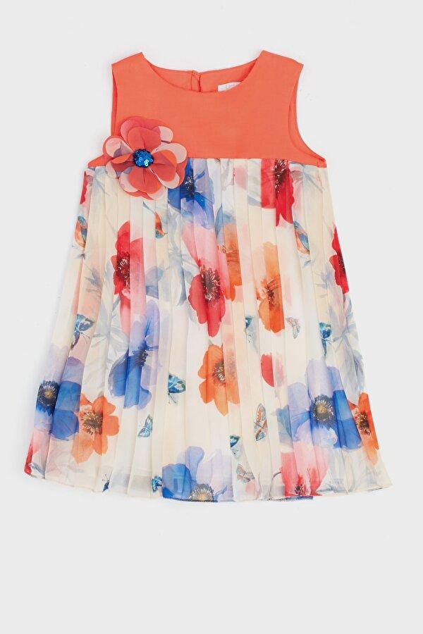 Resim Kız Bebek Çiçekli Elbise