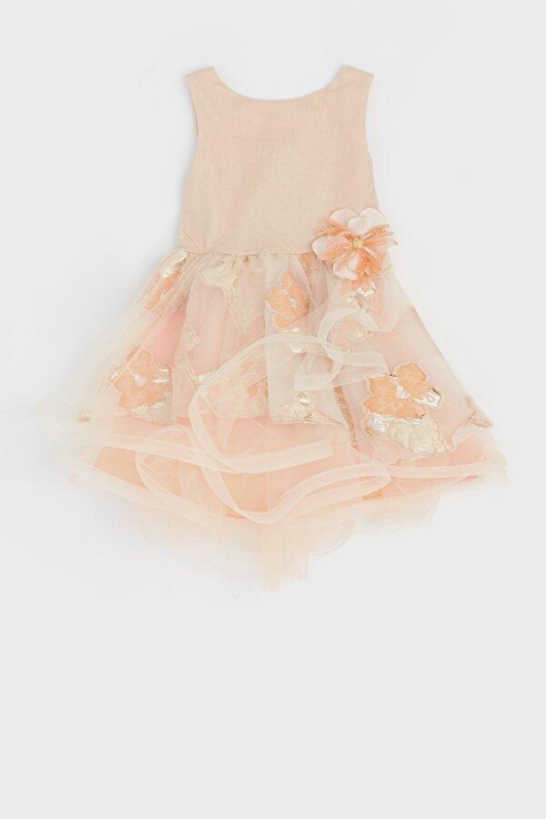 Resim Kız Bebek Somon Elbise