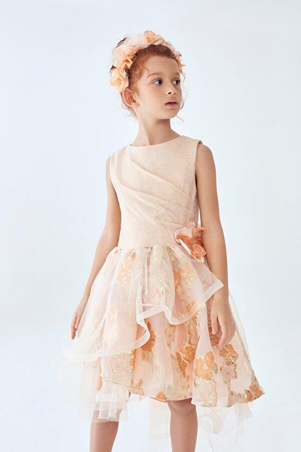 Resim Kız Çocuk Somon Elbise