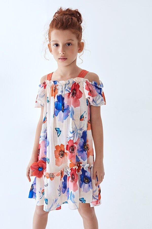 Resim Kız Çocuk Çiçekli Elbise