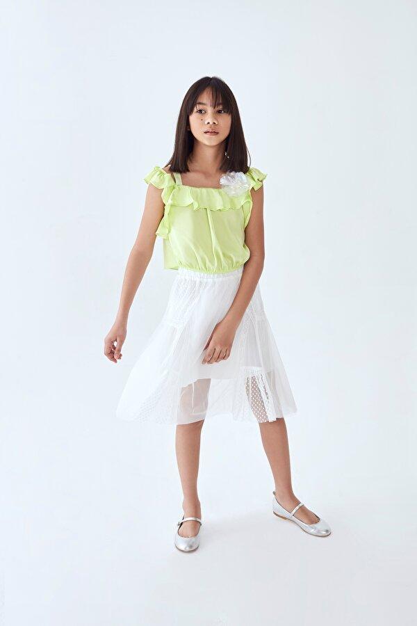 Resim Kız Çocuk Beyaz Etek