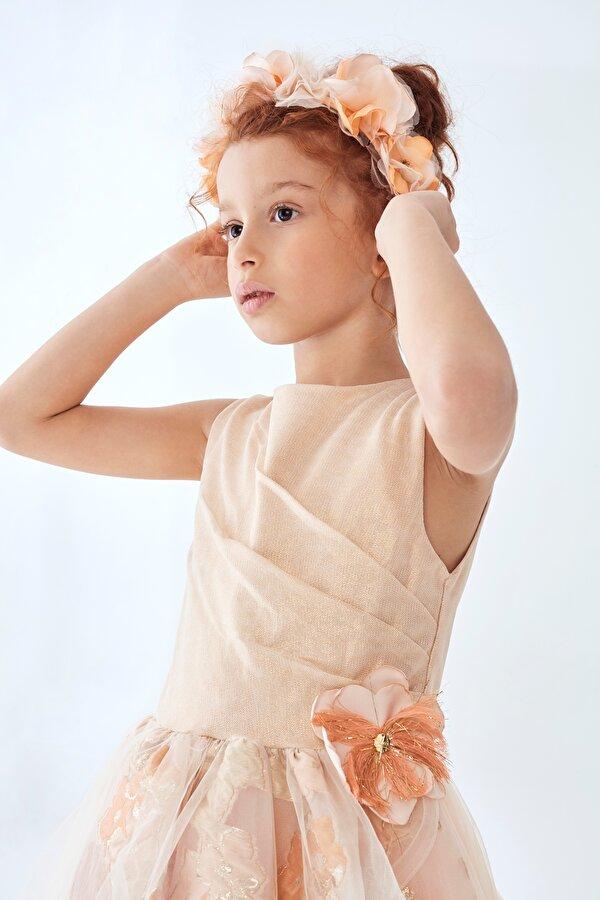 Resim Kız Çocuk Somon Taç