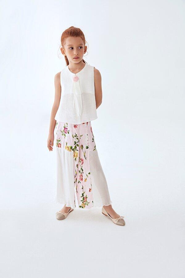 Resim Kız Çocuk Çiçekli Pantolon