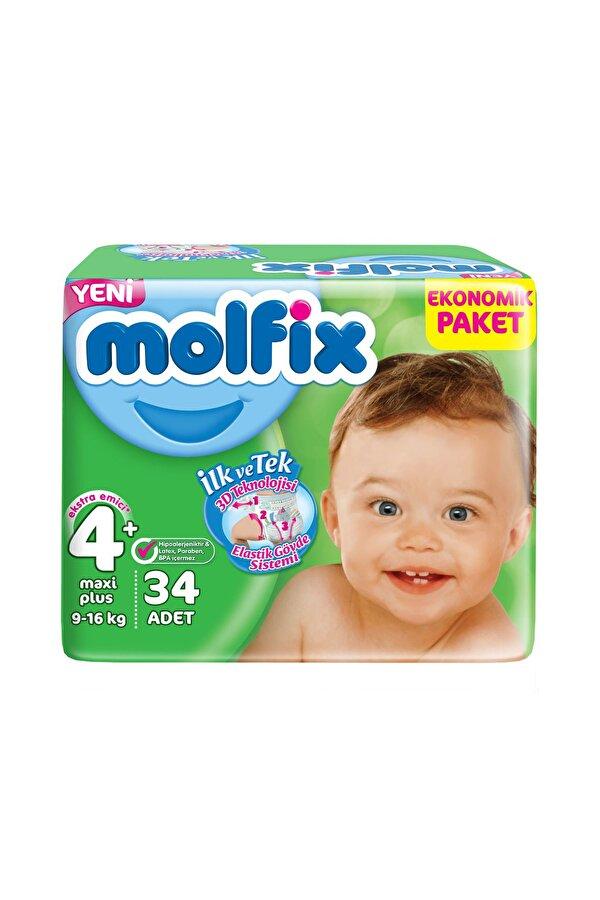 Resim MOLFIX JUMBO MAXI PLUS NO:4+ 34LU 9-16 KG - 8690536800667