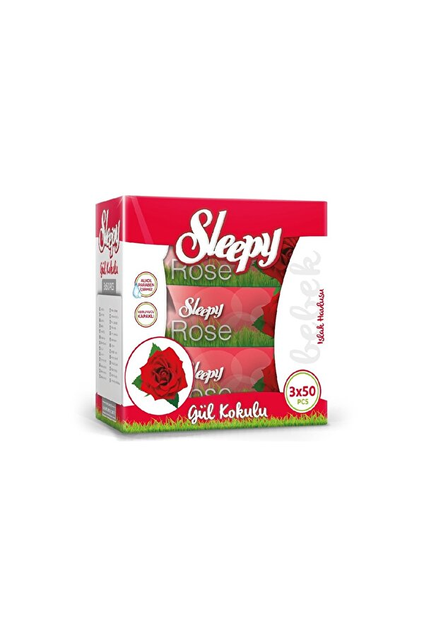 Resim SLEEPY ISLAK HAVLU 3X50 ROSE - 8681212060970