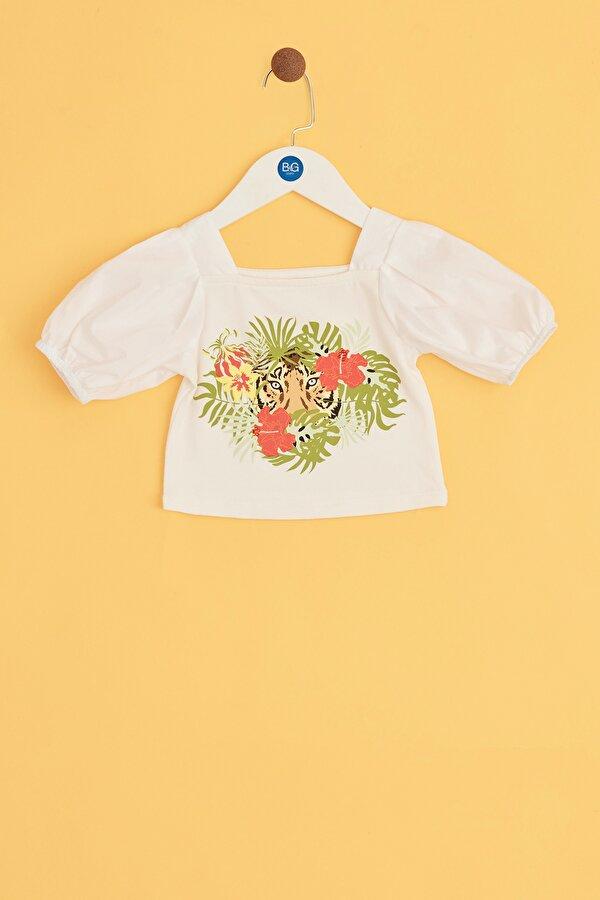 Resim Kız Bebek Ekru Bluz