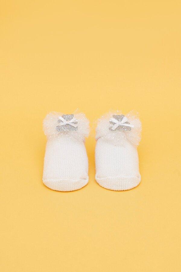 Resim Kız Bebek Beyaz Çorap