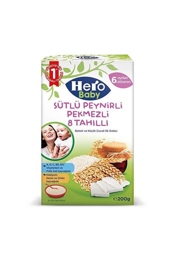 Resim Hero Baby Sütlü Peynirli Pekmezli 8 Tahıllı 200 gr - 8681080599169