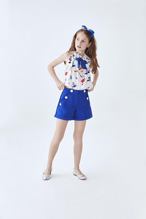 Resim Kız Çocuk Çiçekli Bluz