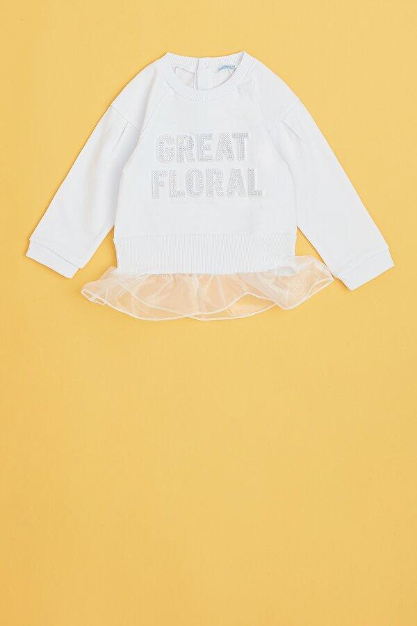 Resim Kız Bebek Beyaz S-Shirt