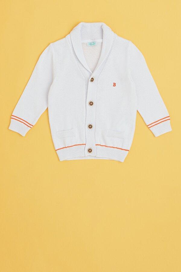 Resim Erkek Bebek Beyaz Hırka